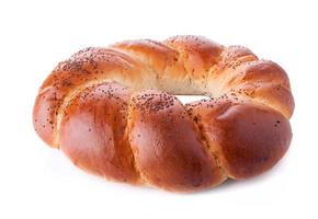 pão cozido redondo foto