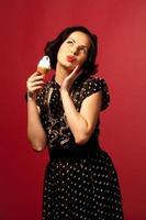 retrato com sorvete foto