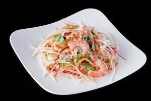 receitas de salada de camarão fresco foto