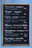 placa do menu