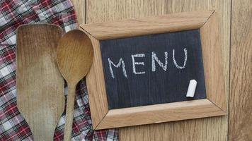 menu escrito foto
