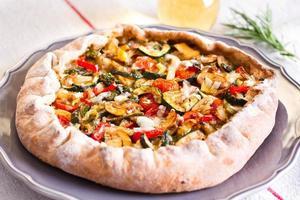 pizza de vegetais de trigo integral