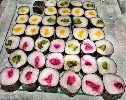 fundo de sushi maki foto
