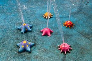 fonte de água no parque aquático foto
