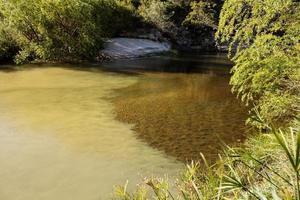 água do rio encontra a água da fonte