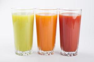 sucos coloridos foto