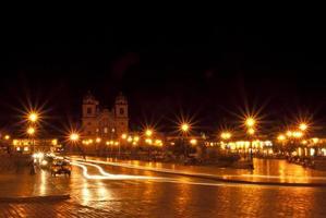 praça de armas, cuzco, peru foto