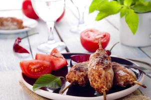 kebab de cordeiro picado foto