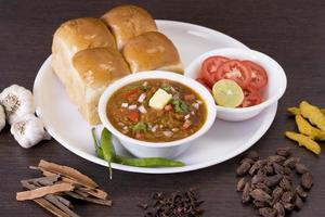 pao bhaji, comida rápida indiana foto