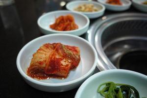 kimchi cozinha coreana churrasqueira foto