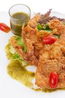 salada de caranguejo de casca mole foto