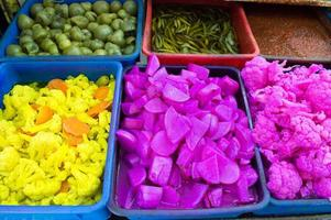 venda de couve-flor em jerusalém foto