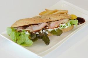 sanduíche de baguete