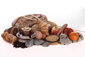 pão e café da manhã foto
