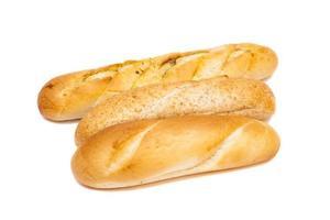 pão no fundo branco foto