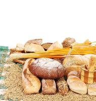 diferentes tipos de pão.