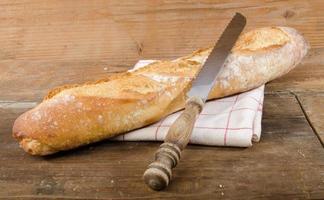 saborosa baguete francesa foto