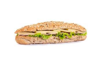 sanduíche longa - baguete com queijo foto
