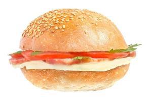 sanduíches com linguiça foto