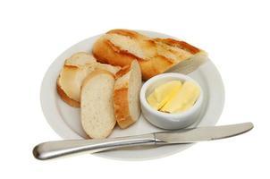 pão e manteiga foto