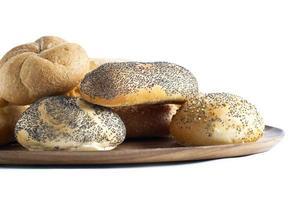 pães no prato foto