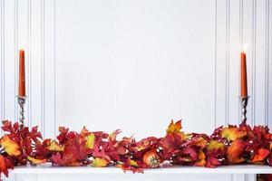 guirlanda de folhas foto