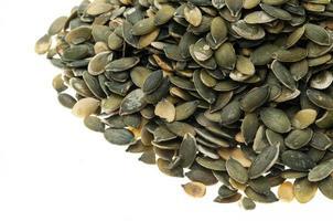 sementes de abóbora descascadas foto