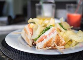 sanduíche de clube vegetariano foto