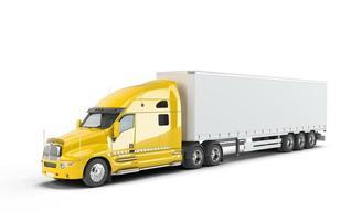 caminhão americano amarelo foto