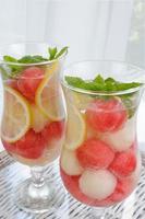 bebida de melão de melancia foto