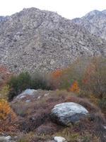 Vista do bonde aéreo de Palm Springs na Califórnia foto