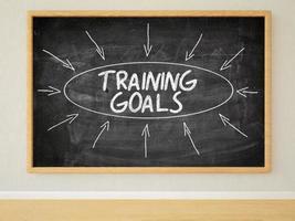 objetivos de treinamento foto