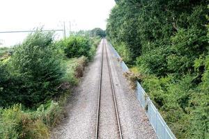 trilho do trem foto