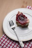 cheesecake de cereja foto