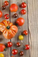 fronteira de tomate foto