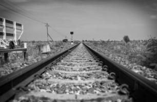 estrada de ferro do vintage foto