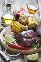 ingredientes para carne assada