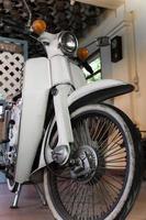 detalhe da motocicleta vintage foto