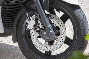 motocicleta freio a disco foto