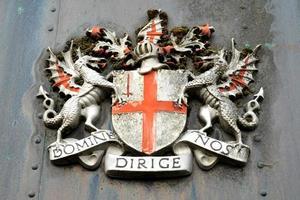 emblema latino da cidade de londres foto