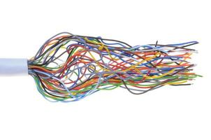 cabo de telecomunicação foto