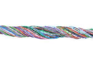 cabos de rede de telecomunicações foto
