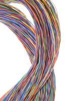 cabo colorido da rede de telecomunicações foto