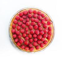 torta com framboesas foto