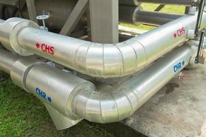 grandes tubos de grande compressor