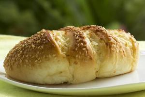 pão de gergelim e alho foto
