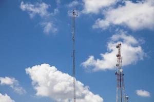 antena de rádio de telecomunicações foto