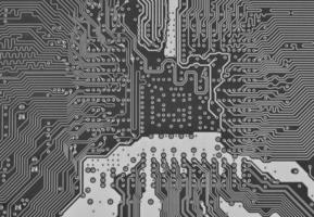 placa de circuito eletrônico como um padrão de fundo abstrato foto