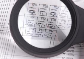 circuitos para plano de fundo ou desenho closeup. foto