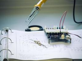 componente do resistor no diagrama de circuito foto